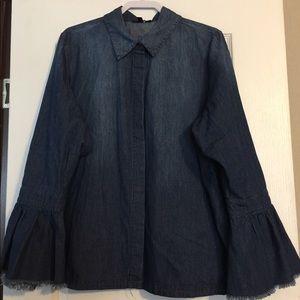 💙Lane Bryant Denim long sleeve shirt 👚💙